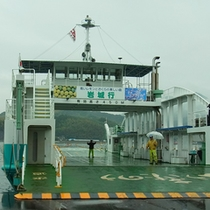 生口島と岩城を結ぶフェリー(三光汽船フエリーで5分)