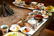 朝食は田舎風おもてなし御膳!!