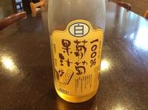 ちょっと大人な感じの白葡萄ジュース