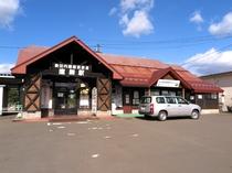 *秋田内陸縦貫鉄道 鷹ノ巣駅/ホテルは駅降りて目の前です!