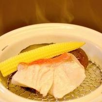 朝食_金目鯛の温泉蒸し