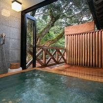 露天風呂付客室「藤二」