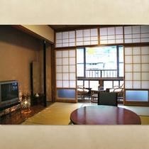 和室(6畳)〜杖立川を望む縁側つきのお部屋〜