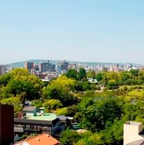 ホテル屋上からの水前寺公園
