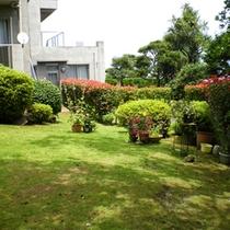 *【施設】四季折々、様々な草花が彩る当館自慢の庭。