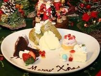 Xmas限定のデザートケーキプレート。女性に人気