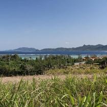 民宿近くから見る吉原の海
