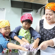 紅イモ餅作り体験