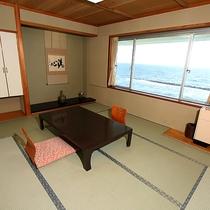全室海側で眺望はどの部屋もオーシャンビュー