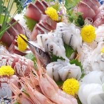 【刺身の盛り合わせ】日本海の新鮮な旬の海の幸