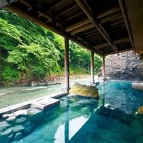 渓流露天風呂「四万川の湯」