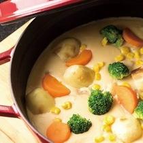 中札内産 若鶏の野菜たっぷりクリーム煮