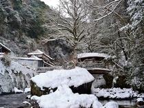 冬の御幸の橋