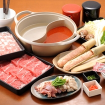 *【夕食例】しゃぶしゃぶ+オードブルのお食事も好評です!
