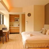 *【スタジオルーム】居心地のいい客室で、快適な時間をお過ごしください。