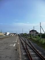 阿字ヶ浦駅から磯崎方面を臨む