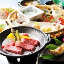常陸牛会席コース 料理イメージ