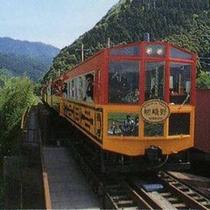 風情あるトロッコ電車♪