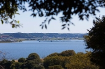 眼下に広がる北浦湖