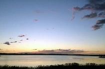 部屋から一望できる北浦湖