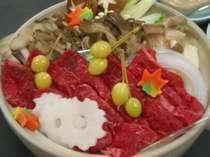 きのこ牛肉鍋