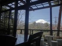 食堂から見える富士山です