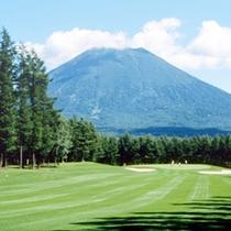 羊蹄山を見渡すことのできる絶景のゴルフ場