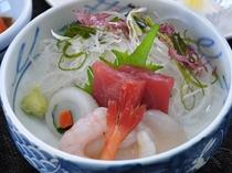 【ご夕食】刺身の一例