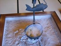 大囲炉裏のお味噌汁(平成26年3月1日撮影)