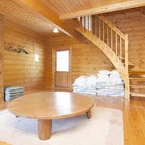 *【客室例】一棟建てのコテージだから、周囲を気にせずの〜んびり♪
