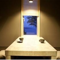 お食事所は個室造りです。掘り座敷ですので、足を下ろしてごゆっくりとどうぞ。