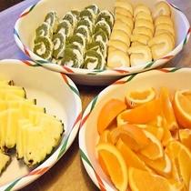【夕食バイキング】メニュー一例(デザート)