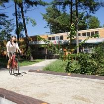 *大芝高原内施設《味工房》/癒しの森の中を爽快に♪お持ちの自転車で回るのもお勧めです。