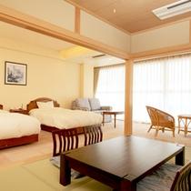 【和洋室一例】和と洋の融合♪寝るときはベッド、寛ぐ時は畳でごろごろ♪それが叶うお部屋です。