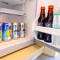 お食事付きプランの方は、冷蔵庫内ドリンクが無料です。