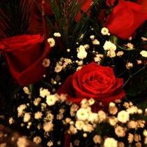 花束の手配も致しております。記念日などにどうぞ。