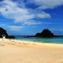 【かりゆしビーチ】ビーチの風景