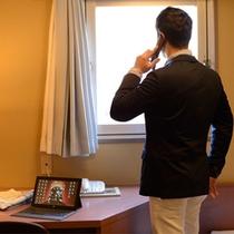全室Wi-Fi完備!お部屋でお仕事もはかどります!
