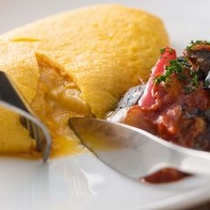 【前菜一例】「とろっと」カマンベールチーズが流れ出す熱々のカマンベールのオムレツ ラタトゥイユ添え
