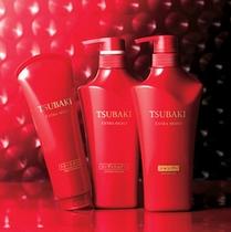 全客室に資生堂TSUBAKIのシャンプー&コンディショナーを完備