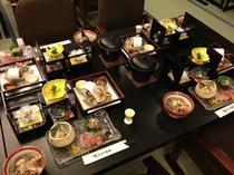 旬会席料理の一例