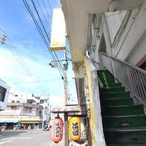 すどまり館入口階段