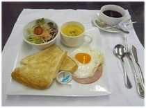 朝食「洋定食」¥720予約制  7:30〜10:30