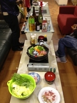 とある日の夕食会のメニュー