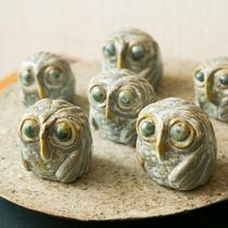 陶芸作品も販売しております。フクロウ