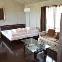 105号棟-「ひろB」 広々としたベッド ゆったりとお休みいただけます