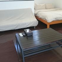 106号棟-「チョコ」 落ち着いた雰囲気のリビングルーム