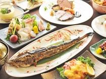 【特選夕食の一例】道産の厳選食材をご堪能ください