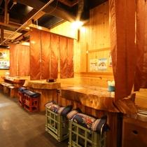 【海鮮浜焼 銀次郎】種子島の市場で獲れた旬の食材をテーブルのコンロで焼いてお召し上がり頂けます。