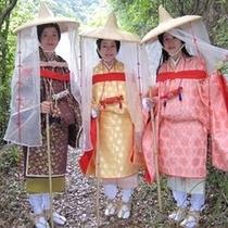 熊野古道 昔のいでたちで歩いてね! (*^^)v楽天500